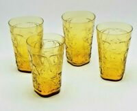 Fostoria Karnak Amber Water Juice Glasses 1955-1965 4161 Set of 4