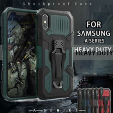 For Motorola Moto G9 G8 PLUS/E6S Clip Case Stand Rugged Heavy Shockproof & Films
