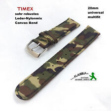 Uhrband relojes pulsera relojes de pulsera banda LW - 20mm-camuflaje-Multifit