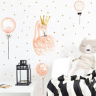 Beautiful Swan Wall Stickers For Kids Girl Home Decor Bedroom Background Decor