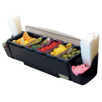 Dome Bar Condiment Organizer with (6) 1-Pint Inserts