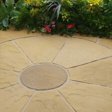 1.6 m Buffed stone paving circle. Ideal for landscaping in traditional gardens.