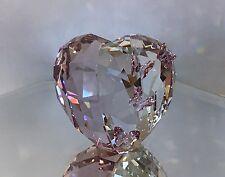 NEW SWAROVSKI CRYSTAL LOVE HEART VIOLET - PINK BUTTERFLIES MEDIUM #1143412 BNIB