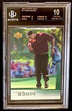 2001 Tiger Woods 'Black Label' BGS 10! Rookie! Upper Deck #1 New Casing Feb '21