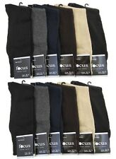 12 Pairs Mens Plain Dress Socks Comfort Focus #5F Multi Colors Solid Size 9-11