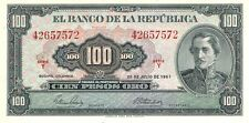 1967 Banco de la Republica - Colombia 100 Pesos Oro in UNC Condition Pick: 403c