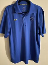"Milwaukee Brewers Nike Dri-Fit Authentic Blue Polo Shirt ""ghost"" Glove Logo"