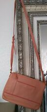 TIGNANELLO Ladies Designer Italian Pebbled Leather Peach Crossbody Handbag