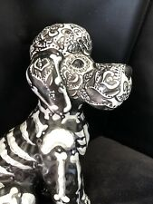 Day of the Dead Sugar Poodle Dog Statue Pet Urn Hand Painted