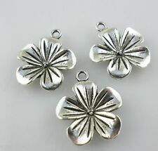 8pcs Tibetan silver flowers Charms Pendant Beads 19.5*23mm