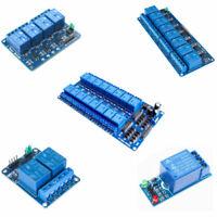 1/2/4/6/8 Kanal Relais Board Modul Optokoppler LED AVR ARM PiC für