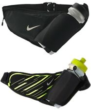 RUNNING BELT - NIKE LARGE BOTTLE BELT WAISTPACK - BLACK / YELLOW