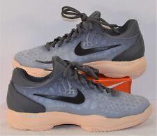 Nike Air Zoom Cage 3 HC Dark Grey & Orange Tennis Shoes Sz 8.5 NEW 918199 001