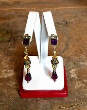 "EARLY ""HEIDI DAUS"" VINTAGE DECO INSPIRED DROP PIERCED EARRINGS VERY RARE!!!"