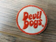 """Vintage 2"""" diameter Evil Dogs RARE Embroidered Patch NEW!"""