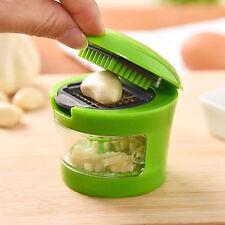 Stainless Steel Garlic Press Chopper Slicer Hand Presser Grinder Crusher- Green