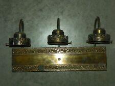 "Vintage Brass & Brass like Finish Bathroom Wall Mirror Light Fixture 3"" Openings"