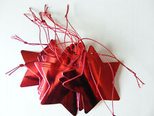 12 Red Mirror Foil Star Gift Tags