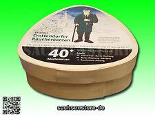 Crottendorfer Original Räucherkerzen 40 Stück mit Rauchschale Weihrauchsortiment