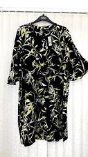 BNWT M & S Navy Frill pattern Dress ~ size 18 regular RRP £35