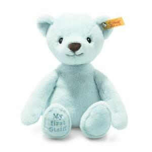 My First Steiff Bear EAN 242144 26cm Blue Plush soft toy baby gift New