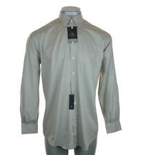 """New Men's Claiborne Chemise habillée à manches longues large 16"""" 34"""" -35"""" T-Weave Entretien Facile"""