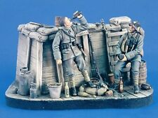 Verlinden 1/35 German Trench WWI Vignette with Base (2 Figures) [Resin] 2376