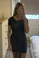 PrettyLittleThing Stripe Dress Size 8