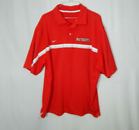 Rutgers University NCAA College Golf Polo Mens Shirt Nike Dri Fit Size 2XL XXL