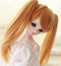 "1/3 8-9"" BJD Wig Dal Pullip BJD SD LUTS DOD DD Dollfie Doll Wig with Two Clip"
