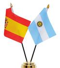 Spain & Argentina Double Friendship Table Flag Set