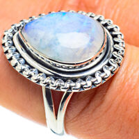 Rainbow Moonstone 925 Sterling Silver Ring Size 8 Ana Co Jewelry R58596F