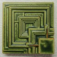 "FRANK LLOYD WRIGHT Motawi Tileworks ENNIS HOUSE Art Tile  4"" x 4"""