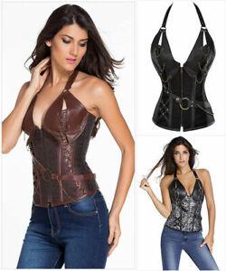 Steampunk corsetto Marrone Donna Corsetto Marrone Gothic Torselett corpino cineprese