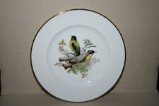 Jkw Germany Fine Porcelain Plate Two Birds Perch in Blossoming Branch w Berries