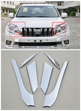 Front Head Light Lamp Eyelid Cover Trim 6pcs For Toyota Prado FJ150 2010-2013