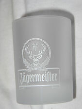 Set of 4 Jagermeister Frosted Shot glasses - Heavy Base..NEW