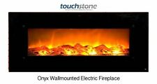 "Fireplace Wall Mounted Electric Onyx 50"" Wide w/Heat Touchstone REFURB!"