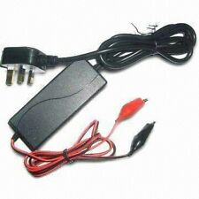 12V Volt 2 Amp - Lead-acid Battery Charger with 3-stage Charging Capability(s)
