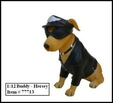 """BIKER'S DOG """"BUDDY HERSEY"""" FIGURE FOR 1:12 MODELS BY AMERICAN DIORAMA AD77713"""