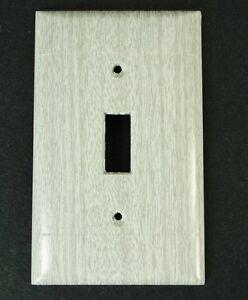 Vintage Sierra Electric Grey Oak Woodgrain Switch Plate cover NOS wood grain