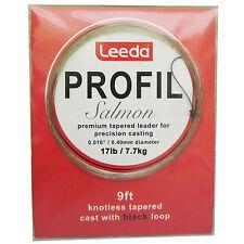 Leeda Profil Knotless Tapered Salmon Fly Fishing Leader/Cast - Choose Strength
