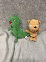 Peppa pig TY bundle - 2 TY Beanies - Peppa's teddy & George's dinosaur.