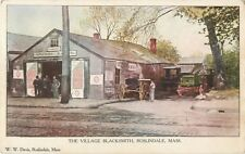 A View Of The Village Blacksmith, Roslindale, Massachusetts MA 1907