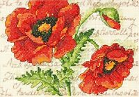 Dimensions Counted Cross Stitch Kit - Poppy Pair - D70-65116
