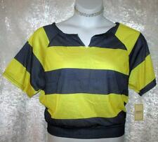 EXIST SAILOR FUN STRIPED TOP YELLOW & BLUE STRIPE NWT SZ XL 18 2XL