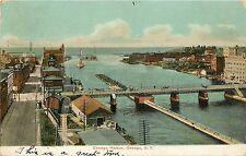 1907 Printed Postcard; Oswego Harbor, Oswego Ny Waterfront Posted