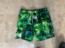 Speedo men's  green  swim shorts Medium size