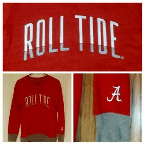 Alabama Crimson Tide Roll Football College Sweatshirt M NEW slim fit basketball
