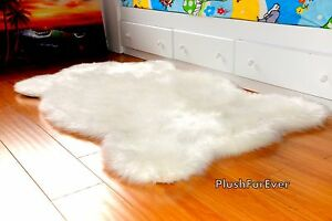 3 x 5 Premium Faux Shag Rugs Luxury Sheepskin Area Rug Plush Nursery Baby Rug